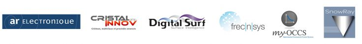 Logos : AR Electronics ; Cristal Innov ; Digital Surf ; frecInIsys ; my-OCCS ; SnowRay
